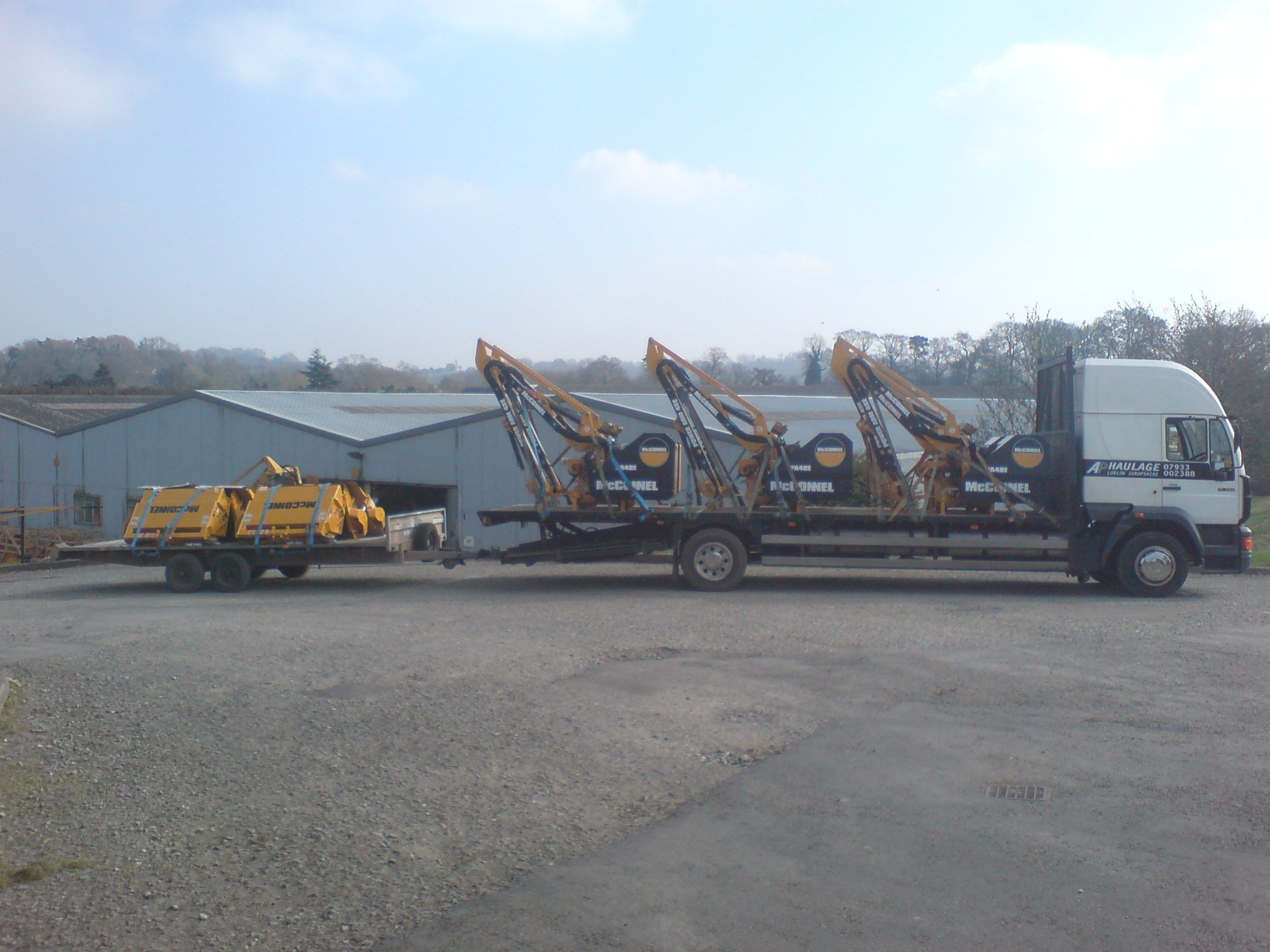 lorry and trailer loaded